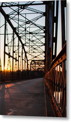 Belford Bridge At Sunset Metal Print