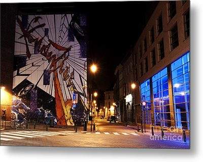 Belgium Street Art Metal Print by Juli Scalzi