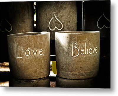 Believe In Love - Photography By William Patrick And Sharon Cummings Metal Print by Sharon Cummings