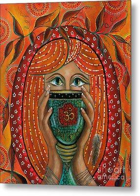 Metal Print featuring the painting OM by Deborha Kerr