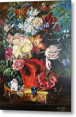 Life Is A Bouquet Of Flowers  Metal Print