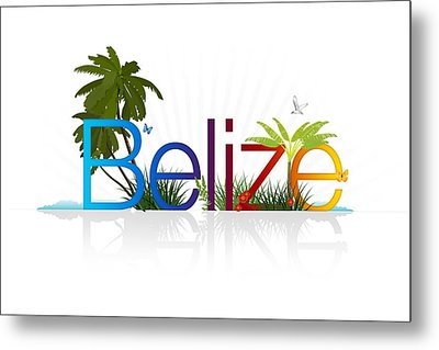 Belize Metal Print by Aged Pixel