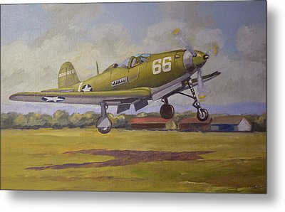 Metal Print featuring the painting Bell Airacobra by Murray McLeod