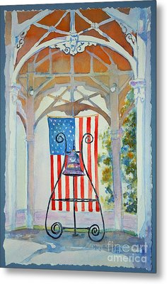 Bell And Flag Metal Print