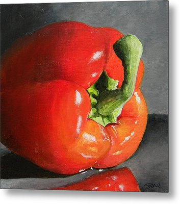 Bell Pepper Mini Metal Print