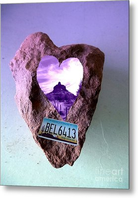 Bell Rock 6413 Serendipity Metal Print by Marlene Rose Besso