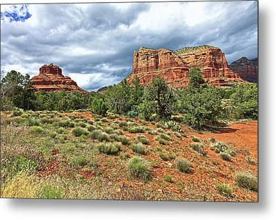 Bell Rock At Sedona Az. Metal Print by James Steele