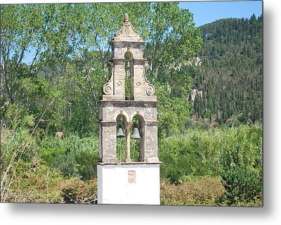 Metal Print featuring the photograph Bell Tower 1584 1 by George Katechis