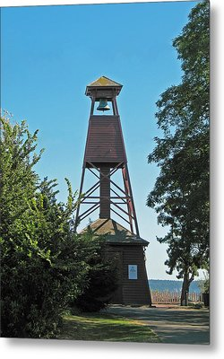 Bell Tower In Port Townsend  Metal Print by Connie Fox