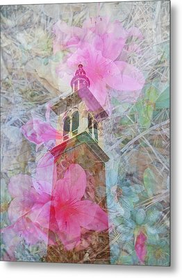 Bell Tower Wrapped In Spring Metal Print
