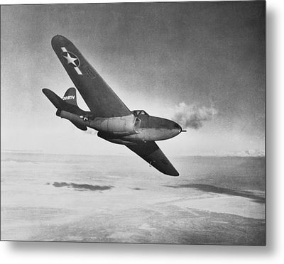 Bell Xp-59a Airacomet, 1942 Metal Print by Science Photo Library