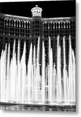 Bellagio Fountains IIi Metal Print by John Rizzuto