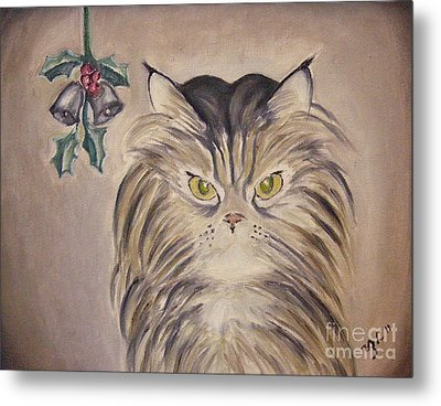 Belle With Silver Bells Metal Print by Victoria Lakes