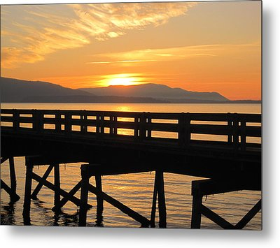 Metal Print featuring the photograph Bellingham Bay Boardwalk by Karen Molenaar Terrell