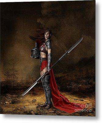 Bellona Goddess Of War Metal Print by Shanina Conway