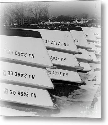 Belmar Marina Rowboats Metal Print by Paul Ward