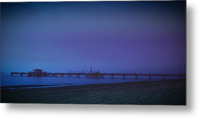 Metal Print featuring the photograph Belmont Pier by Joseph Hollingsworth