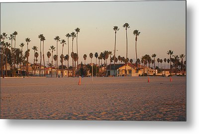 Belmont Shore Sunset Metal Print