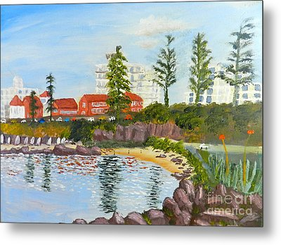Metal Print featuring the painting Belmore Basin From The North Sea Wall by Pamela  Meredith