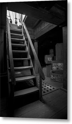 Below Deck - Charles W Morgan Whaling Ship Metal Print by Gary Heller