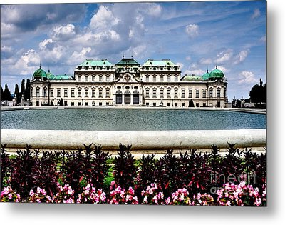Metal Print featuring the photograph Belvedere Palace by Joe  Ng