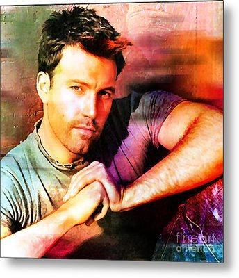 Ben Affleck Metal Print by Marvin Blaine