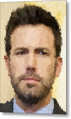 Ben Affleck Portrait Metal Print