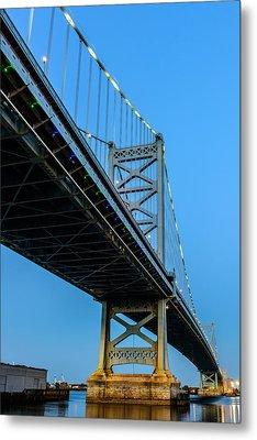 Ben Franklin Bridge Metal Print by Louis Dallara