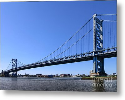 Ben Franklin Bridge Metal Print by Olivier Le Queinec