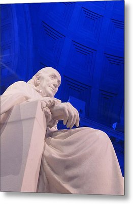 Metal Print featuring the photograph Ben Franklin In Blue II by Richard Reeve