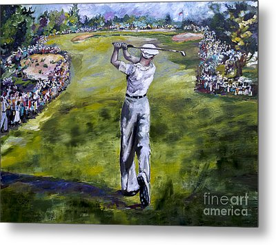 Ben Hogan Golf Painting Metal Print by Ginette Callaway