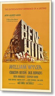 Ben Hur Movie Poster Metal Print by Mountain Dreams
