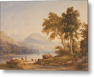 Ben Vorlich And Loch Lomond Metal Print by Anthony Vandyke Copley Fielding