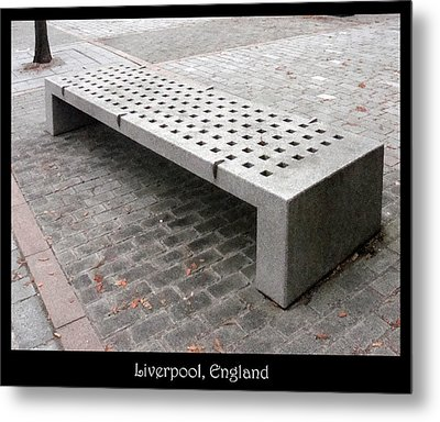Bench #24 Metal Print by Roberto Alamino