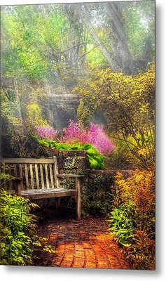 Bench - Tranquility II Metal Print by Mike Savad