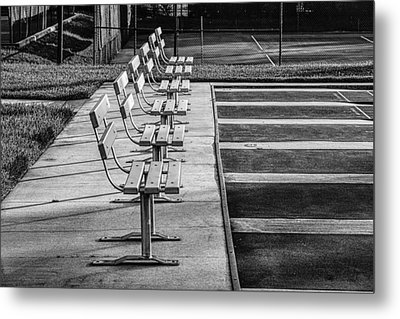 Benches At The Ready Metal Print