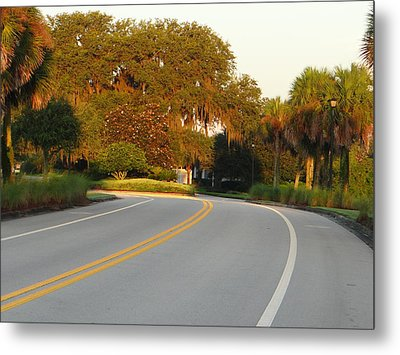 Bend In Road Metal Print