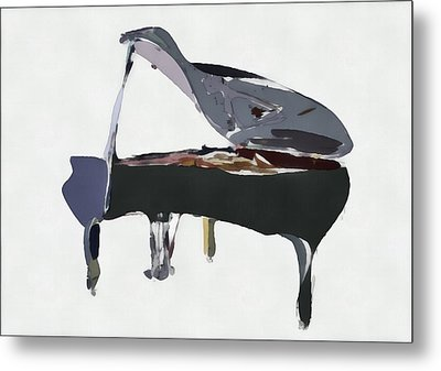 Bendy Piano Metal Print by David Ridley