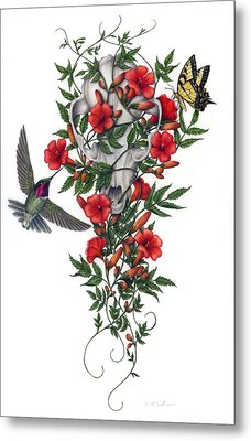 Metal Print featuring the painting Beneath Summer's Promise by Pat Erickson