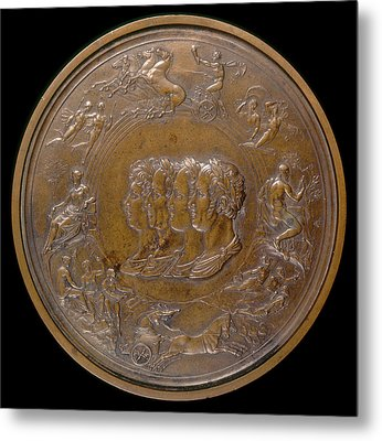 Benedetto Pistrucci, The Waterloo Medallion The Prince Metal Print