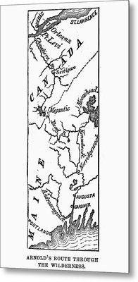 Benedict Arnold: Map, 1775 Metal Print by Granger