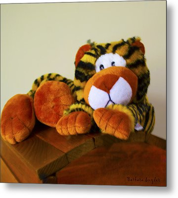 Bengal Tiger Abstract  Metal Print by Barbara Snyder