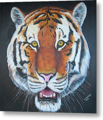 Metal Print featuring the painting Bengal Tiger by Thomas J Herring