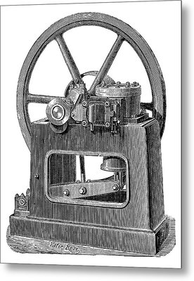 Benier Gas Engine Metal Print by Science Photo Library