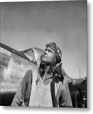 Benjamin Davis Tuskegee Airmen Metal Print