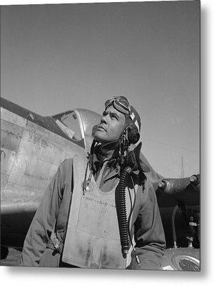 Benjamin Davis - Ww2 Tuskegee Airmen Metal Print by War Is Hell Store