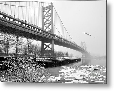 Benjamin Franklin Bridge Metal Print