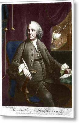 Benjamin Franklin Metal Print by Science Photo Library