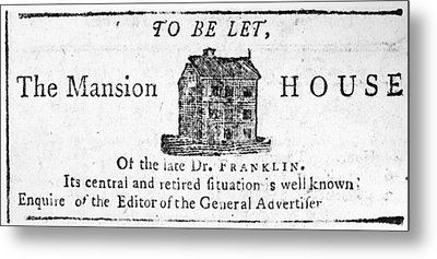 Benjamin Franklin's House Metal Print