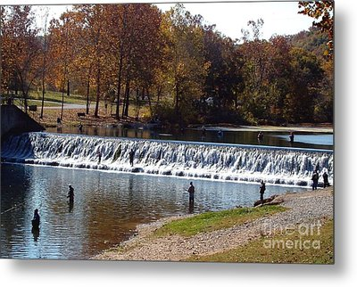 Metal Print featuring the photograph Bennett Springs Spillway by Sara  Raber